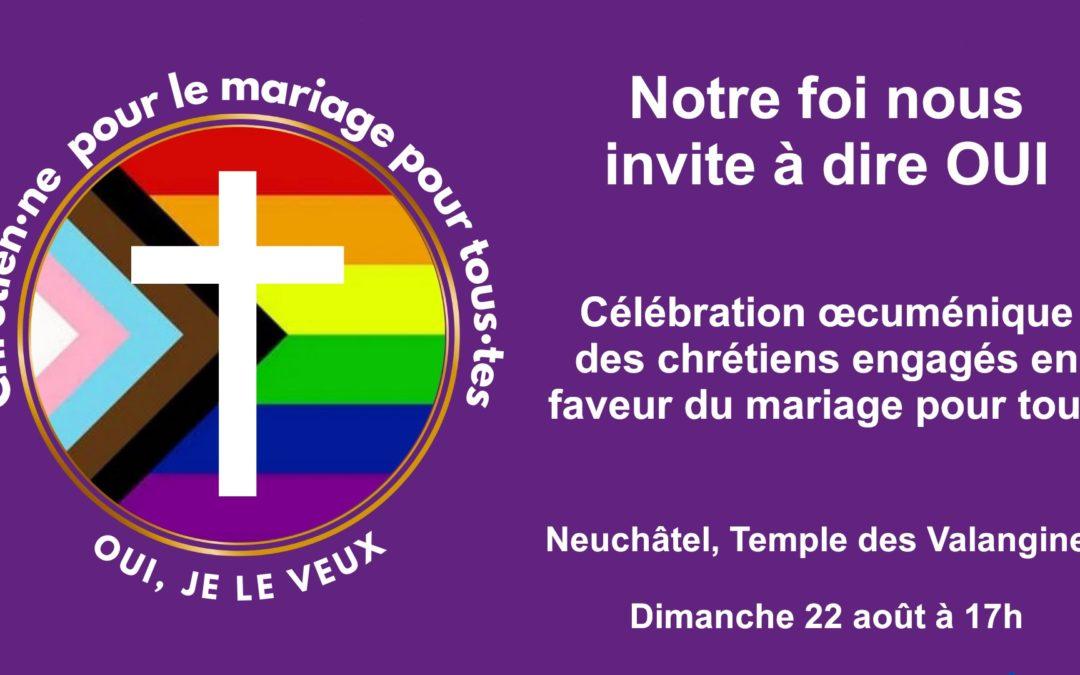Célébration inclusive en faveur du mariage pour toutes et tous